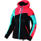 Women's Black/Electric Tangerine/Aqua Vertical Edge Jacket