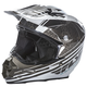 Black/White F2 Carbon Animal Helmet