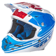 Blue/White/Red F2 Carbon Animal Helmet
