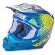 Yellow/Blue/White F2 Carbon Animal Helmet