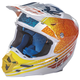 Orange/White/Teal F2 Carbon Animal Helmet