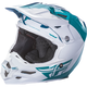 Teal/White F2 Carbon Pure Helmet