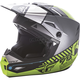 Youth Matte Black/Gray/Hi-Vis Kinetic Elite Onset Helmet