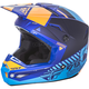 Youth Matte Blue/Orange Kinetic Elite Onset Helmet