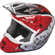 Youth Red/Black/White Kinetic Crux Helmet
