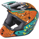 Youth Teal/Orange/Black Kinetic Crux Helmet