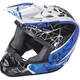 Youth White/Black/Blue Kinetic Crux Helmet