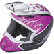 Youth Pink/Black/White Kinetic Crux Helmet
