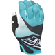 Black/White/Teal Lite Gloves