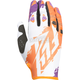 Orange/White/Purple Kinetic Gloves