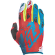 Dark Teal/Red Kinetic Gloves