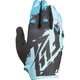 Youth Black/Dark Teal Kinetic Gloves