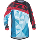 Youth Teal/Red Kinetic Crux Jersey
