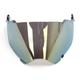 Gold Mirror Replacement Shield for Fly Racing Trekker Helmet - 73-31354