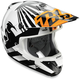 Orange/White Dazzle Helmet