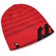 Red/Black Rutts Ribbed Beanie - 2501-2509
