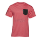 Red Heather Shroud Pocket T-Shirt