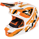 Orange/White/Black Blade Throttle Helmet
