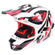 Red/White/Black Blade Throttle Helmet