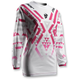 Womens White/Magenta Pulse Facet Jersey