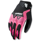 Womens Black/Pink Spectrum Gloves