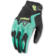 Womens Black/Teal Spectrum Gloves