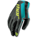 Womens Black/Teal Void Gloves