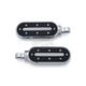 Chrome/Black Heavy Industry Footpegs w/Male Mount Adapters - 7031