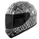 Matte Black/Silver SS700 Hell's Belles Helmet