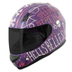 Matte Purple/Cream SS700 Hell's Belles Helmet