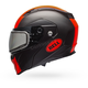Matte Black/Orange Revolver EVO Rally Snow Helmet w/Dual Lens Shield