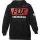 Black Honda Basic Pullover Hoody