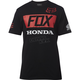 Black Honda Basic Standard T-Shirt