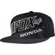Gray/Black Honda Premium Snapback Hat - 18989-035-OS