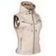 Women's Cream Hell's Belles Leather Vest