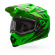 Green/Titanium MX-9 Adventure Barricade Snow Helmet w/Dual Lens Shield