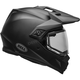 Matte Black MX-9 Adventure Snow Helmet w/Dual Lens Shield