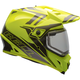 Yellow/Titanium MX-9 Barricade Snow Helmet w/Dual Lens Shield