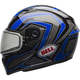Blue/Titanium Qualifier Machine Snow Helmet w/Dual Lens Shield