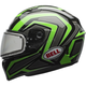 Green/Titanium/Black Qualifier Machine Snow Helmet w/Dual Lens Shield