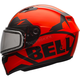 Matte Orange/Black Qualifier Momentum Snow Helmet w/Dual Lens Shield