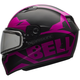 Matte Pink/Black Qualifier Momentum Snow Helmet w/Dual Lens Shield