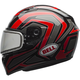 Red/Titanium/Black Qualifier Machine Snow Helmet w/Dual Lens Shield