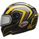 Yellow/Titanium/Black Qualifier Machine Snow Helmet w/Dual Lens Shield