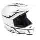 Flat White/Black Pinstripe F3 Helmet