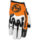 White/Orange MX1 Gloves