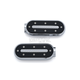 Chrome/Black Heavy Industry Footpegs w/o Adapters - 7033