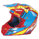 Red/Blue HMK F2 Carbon Cross Helmet