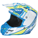 Blue/Hi-Vis HMK F2 Carbon Cross Helmet