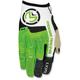 Green/White MX1 Gloves